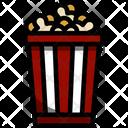 Popcorn Corn Box Icon