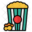 Popcorn Food And Restaurant Cinema Icon