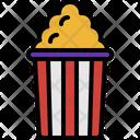 Popcorn Entertainment Snack Icon