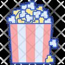 Popcorn Corn Fast Food Icon