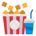 Popcorn And Drink Icon