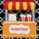 Popcorn Stall Popcorn Booth Street Food Icon