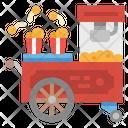 Popcorn Cart Food Icon