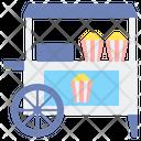 Popcorn Stall Popcorn Popcorn Shop Icon