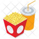 Popcorn With Drink Popcorn Drink Icon