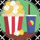 Food Popcorns Juice Icon