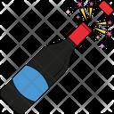 Splashing Champagne Celebration Theme Alcohol Icon