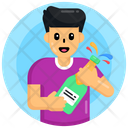 Wine Popping Cork Drink Icon