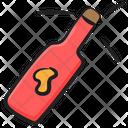 Popping Cork Splashing Champagne Celebration Icon