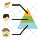 Population Triangle Aging Icon