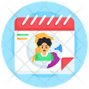 Agenda Population Day Calendar Almanac Icon