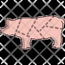 Pork Non Veg Meat Icon
