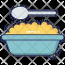 Porridge Plate Spoon Icon