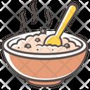 Porridge Food Plate Icon