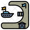 Port Harbor Dock Icon