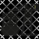 Port Vessel Shipping Icon