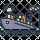 Port Seaport Harbor Icon