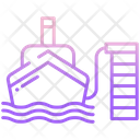 Port Ship Sea Icon