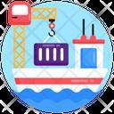 Crane Lifting Port Shipping Sea Lifting Icon