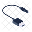 Portable Cable Cable Cord Usb Cable Icon