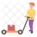 Man Carrying Luggage Man Carrying Pushcart Porter Icon