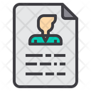 Application Paper Folio Portfolio Biodata Icon