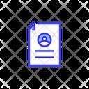 Portfolio Resume Biodata Icon