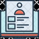 Portfolio Presentation Infographic Icon