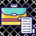 Portfolio Luggage Bag Briefcase Icon