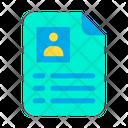 Cv Portfolio Profile Icon