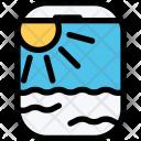 Porthole Airplane Beach Icon