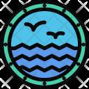 Porthole Ship Beach Icon