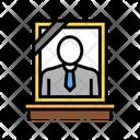 Portrait Dead Human Icon