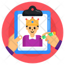 King Father Dad Portrait Icon