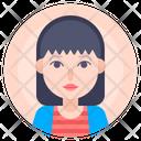 Avatar Female Portrait Icon