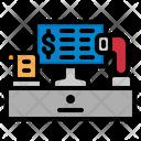 Pos System Invoice Machine Self Scanning Icon