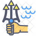 Poseidon Aquaman Fork Icon