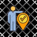 Position Person Pin Icon