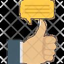 Positive Feedback Bubble Feedback Icon
