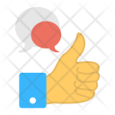 Positive Feedback Goodwill Icon