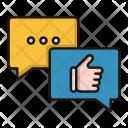 Positive Feedback Chatting Icon