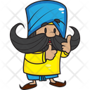 Positive Punjabi Man Icon