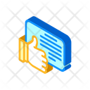 Review Like Isometric Icon