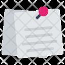 Postit Paper Document Icon