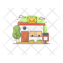 Building Logistic Company Export Trading Icon