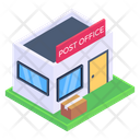 Postal Post Office Post Office Building Icon