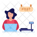 Post Office Worker Icon