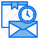 Mail Clock Box Icon