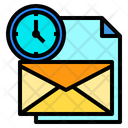 Mail File Clock Icon
