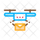 Postal Drone Delivery Icon